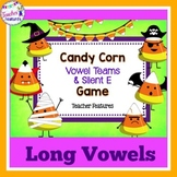 Halloween Literacy Centers | Candy Corn | Long Vowels Game | Vowel Teams Game