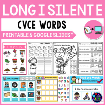 Long Vowel Worksheets and Activities (CVCE Words) - Long I Silent E