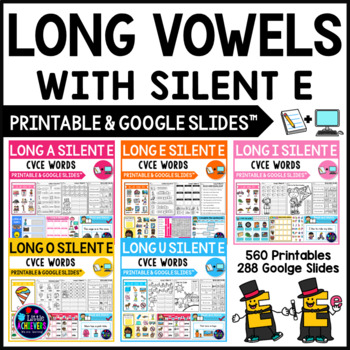 Long Vowel Worksheets and Activities - CVCE Words