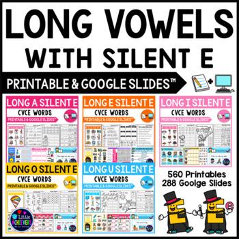 Long Vowel Worksheets and Activities - CVCE Words BUNDLE (Silent E Worksheets)