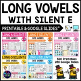 Long Vowel Worksheets and Activities - CVCE Words BUNDLE (