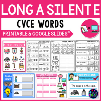 Long Vowel Worksheets and Activities (CVCE Words) - Long A Silent E