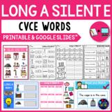 Long Vowel Worksheets (CVCE Worksheets) - Long A Silent E Activities