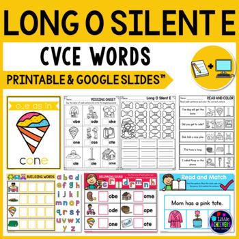 Long Vowel Worksheets (CVCE Worksheets) - Long O Activities