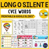 Long Vowel Worksheets (CVCE Worksheets) - Long O Silent E  Activities