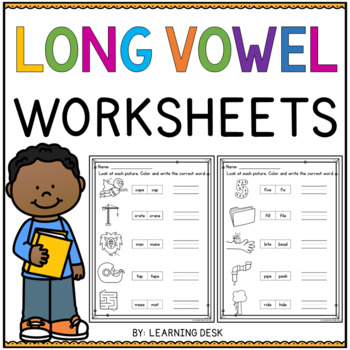 10 FREE ESL long vowels worksheets