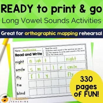 Long Vowel Worksheets Bundle
