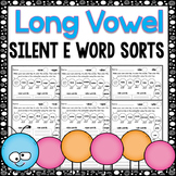 Long Vowel Worksheets: CVCE Worksheets ~ Caterpillar Word Sort Activities