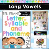 Long Vowels BUNDLE: Letter, Syllable and Phoneme Mats