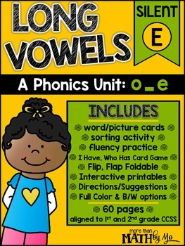 Long Vowels - A Phonics Unit: o_e