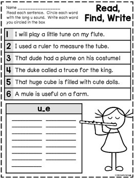 Long Vowels - A Phonics Unit: u_e