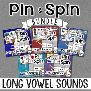 Long Vowels BUNDLE - Self-Checking Phonics Centers