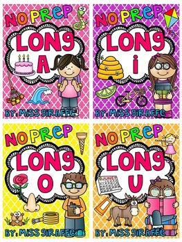 Long Vowels Worksheets and Activities No Prep Packs BUNDLE