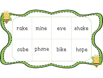 Long Vowels Bingo Game