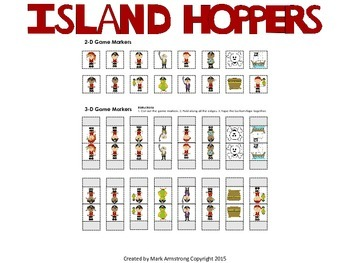 Long Vowels Board Game - Island Hoppers