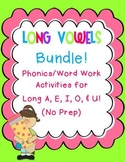 Long Vowels Bundle! Phonics/Word Work