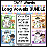 BUNDLE Long Vowels CVCE Words Worksheets - NO PREP Printables