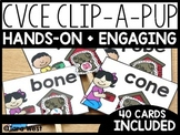 Long Vowels CVCe Clip-a-Pup