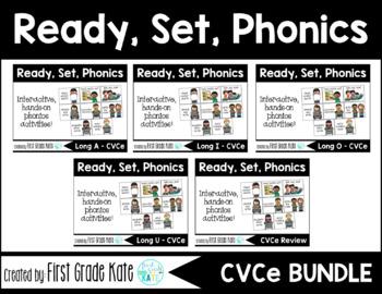 Long Vowels CVCe Interactive Activities BUNDLE (First Grade Phonics)
