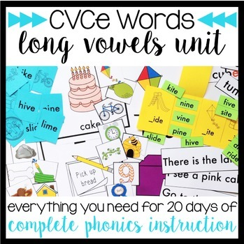 Phonics By Design Long Vowels CVCe Word Unit BUNDLE