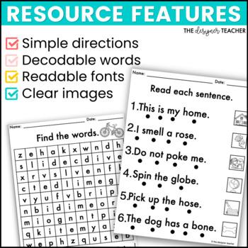 NO PREP Print & Go Long Vowels CVCe Word Work BUNDLE