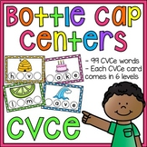 Long Vowels CVCe Words Bottle Cap Centers BUNDLE