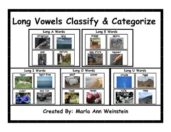 Long Vowels Classify & Categorize