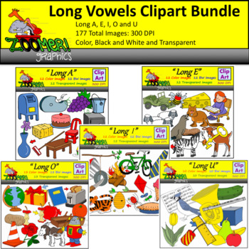 Long Vowels Clipart Bundle