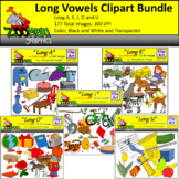Long Vowels Clipart Bundle
