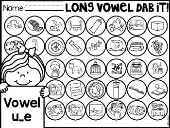 Long Vowels Dab It Cards