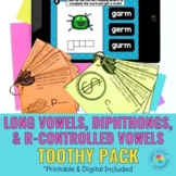 Long Vowels, Diphthongs, R-Controlled Vowels Toothy® Pack