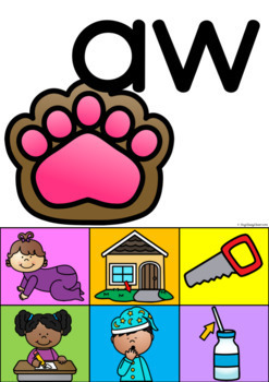 Long Vowels, Diphthongs and Other Vowel Sounds Sorting Mats