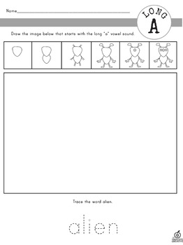 Long Vowels: Directed Drawings