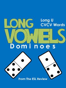 Long Vowels Dominoes CVCV - Long U