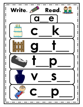 Long Vowels - Easy practice activities - Struggling and Beginning Readers - RTI