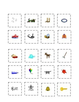 Long Vowels Flash Cards Cut Paste Match a e i o u  Kindergarten Sight Words