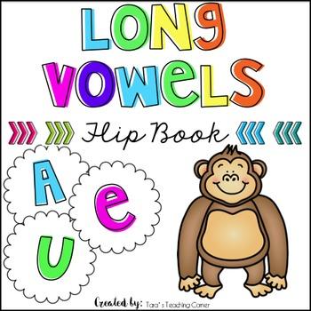 Phonics Flip Book: Long Vowels (a,e,u)