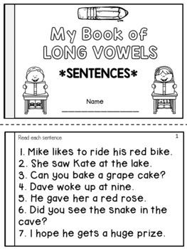 Long Vowels Fluency Books