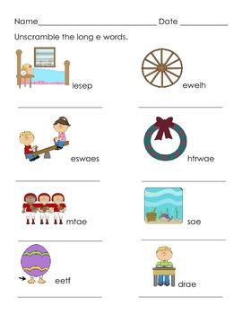 Long Vowels Fun Activities