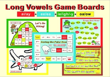 Long Vowels Game Boards