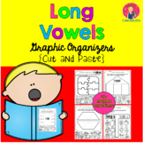 Long Vowels Graphic Organizers {Cut-and-Paste} for Kindergarten and First Grade