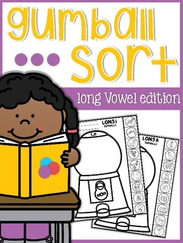 Long Vowels Gumball Sort Sheets