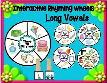 Long Vowels Interactive Learning Wheels Set