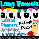 Long Vowels Bundle! 5 Weeks of Lesson Plans, Activities & Word Work!