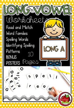 Long Vowels - Long A Worksheets