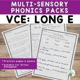 VCE: Long E | Orton-Gillingham Activity Multisensory Phoni