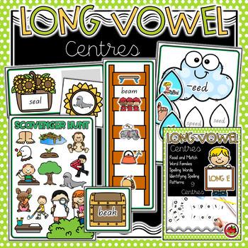 Long Vowels - Long E Activities BUNDLE
