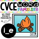 Long I Vowels (CVCE Words) No Prep Phonics Printables