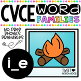 Long I Vowels (CVCE Words) No Prep Phonics Printables