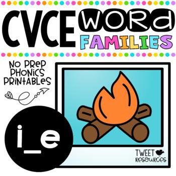 Long I CVCE Words No Prep Phonics Printables